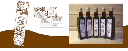 Coffee Liqueur Label